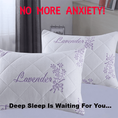 Lavender Infused Bamboo Pillow - NO MORE ANXIETY! You'll Sleep Better!