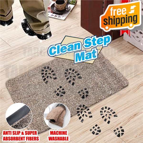 Super Absorbent Clean Step Doormat + With Free Shipping!