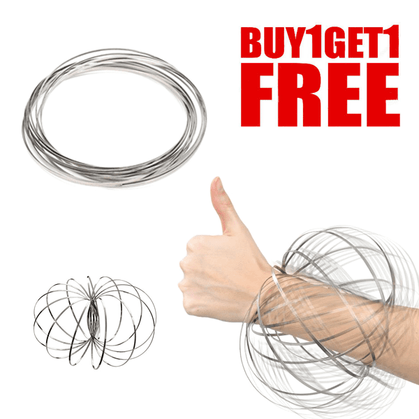 DEAL OF THE DAY! - Magic Toroflux 3D Kinetic Flow Ring Interactive Spring Toy - BUY 1 GET 1 FREE!