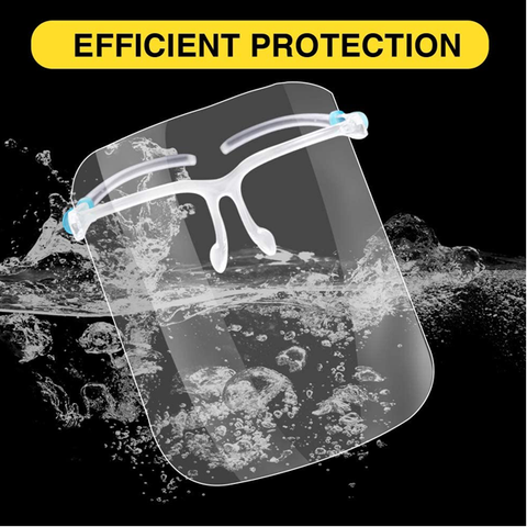 2 Pack: Safety Face Shield with Glasses Frame
