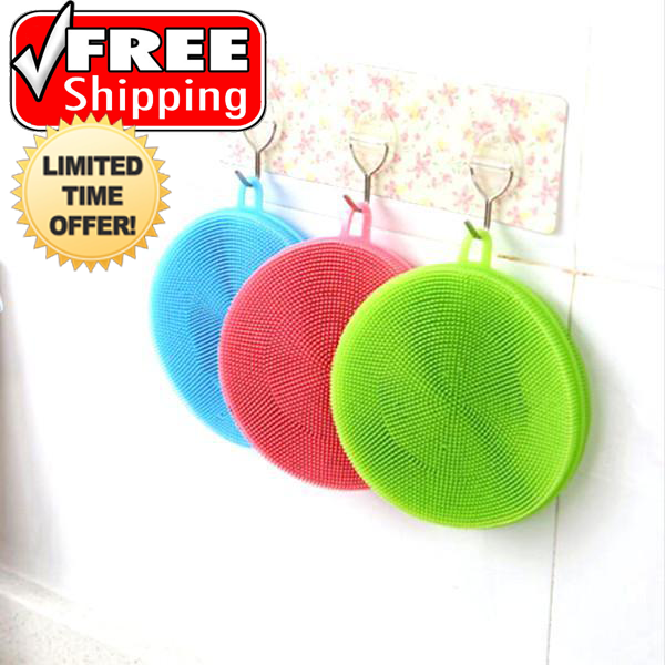 3 Pack: Multipurpose Food-Grade Antibacterial Silicone Smart Sponge - FREE SHIPPING For A Limited Time Only!!