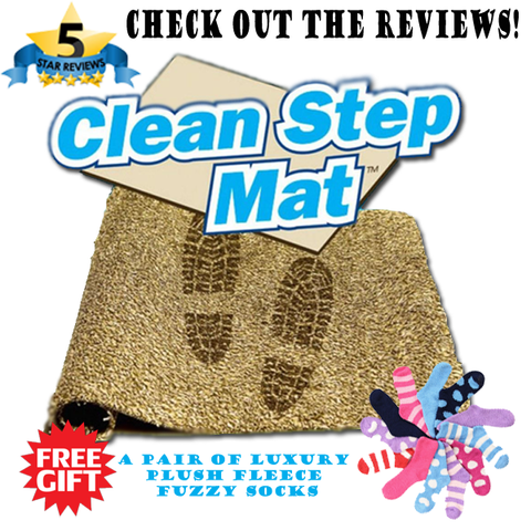 Clean Step Doormat With Super Absorbent Magic Fibers
