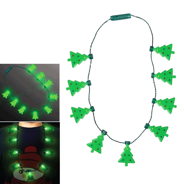 LED Christmas Tree Holiday Party Necklace - Multi-Packs Available!