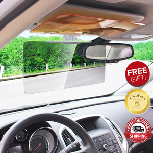 2 SETS: HD Day and Night Anti-Glare Vehicle Visor
