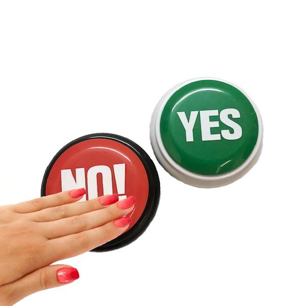 Yes and No Buzzer Buttons For Quiz Games & More