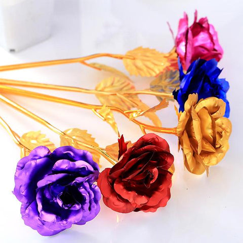 All Deals - 24K Gold Plated Forever Love Rose With Love Stand Holder - Assorted Colors