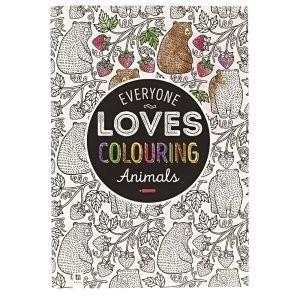 All Deals - Adult Coloring Book - Everyone Loves Coloring Animals