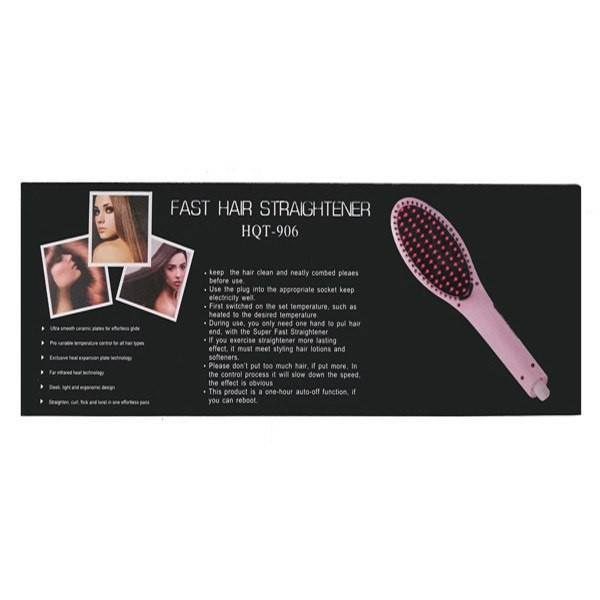 All Deals - Ceramic Fast Straightening And De-Tangling Hair Brush With LCD Display