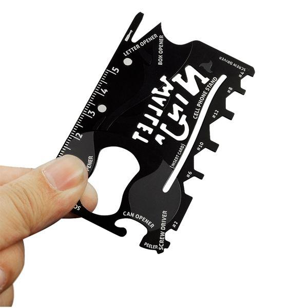 All Deals - Heat-Treated Steel 18-in-1 Multi-Purpose Credit Card Sized Pocket Tool