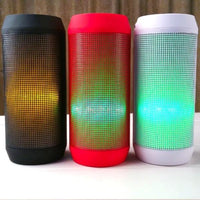 All Deals - LED Rainbow Beats Equalizing Wireless Portable Bluetooth Speaker  - Assorted Colors