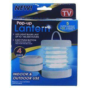 All Deals - Pop-up Lantern 4 Pack (White)