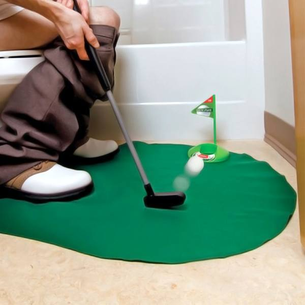 Pro Golf Player Vitality Form   Bathroom Mini Golf Game!: Shopify Campaign
