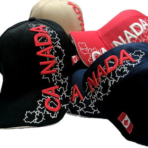 Apparel - Canada Limited Edition X-Treme Maple Leaf Stitched & Embroidered Baseball Cap - 4 Colours Available!