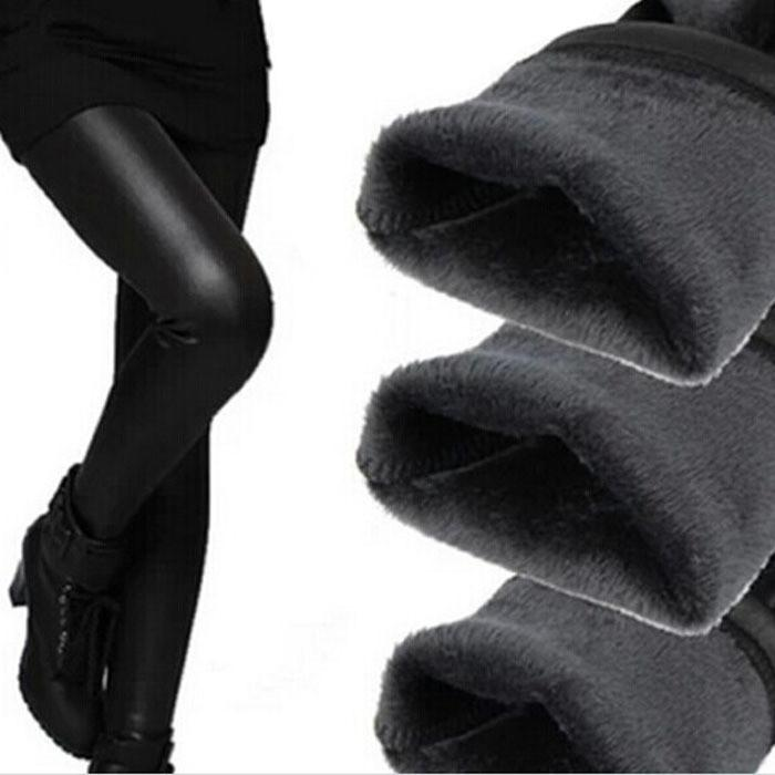 Apparel - Fleece Lined Vegan Leather Leggings