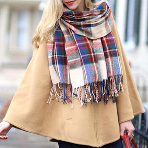 Apparel - Thermal Fleece Lightweight Unisex Plaid Scarf