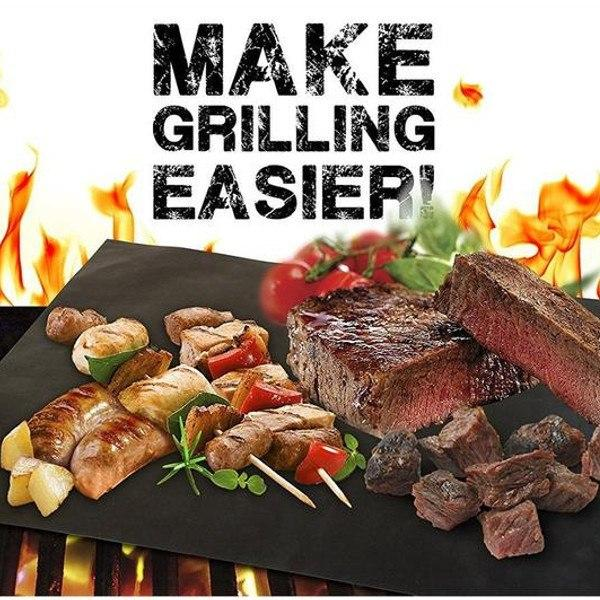 As Seen On TV - 2 Pack: Non-Stick Grill Mat And Bake Mat