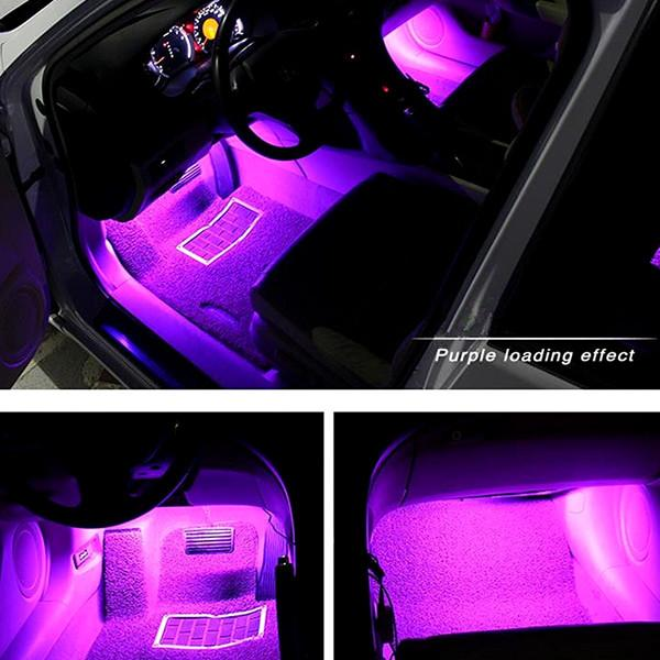 ... Automotive   Atmospheric RGB Car Interior Lighting System With Remote  Control ...