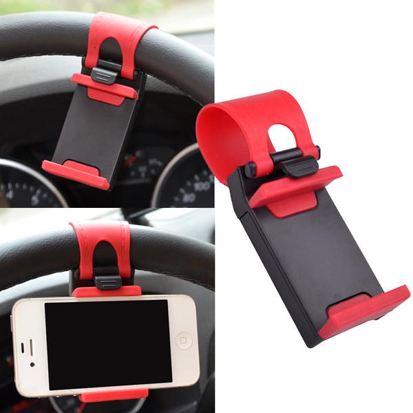 Automotive - Universal Smart Clip Car Steering Wheel Phone Holder Mount