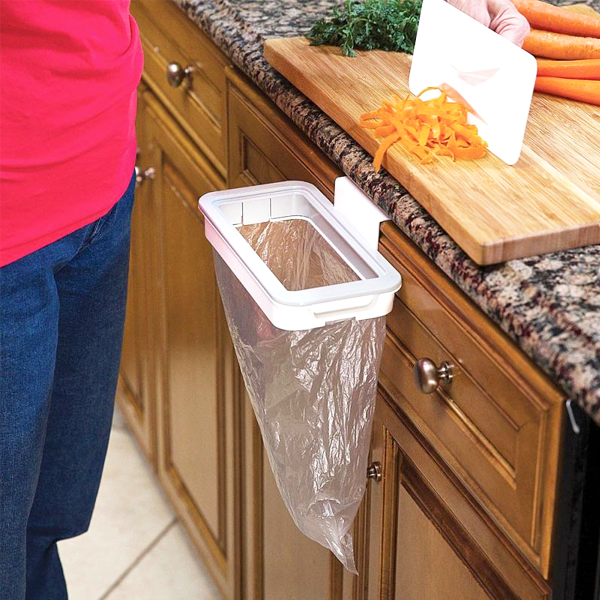 Eco-Friendly Clip-On Hanging Trash Bag Holder