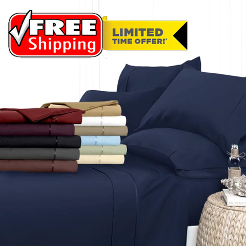 """Luxury Deep-Pocket Bamboo Bed Sheet Set"" - FREE SHIPPING!"