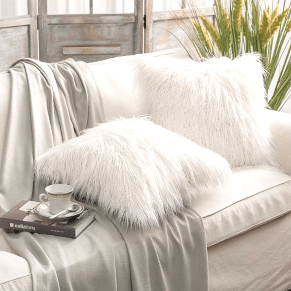 Exclusive VIP Deals - 2 Pack: Luxury Faux Fur Plush Throw Pillow