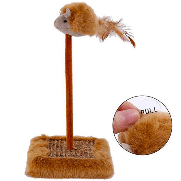 """Vocal Mouse Toy With Scratch Pad"" Pet Cat Toy"