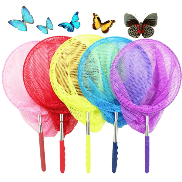 2 Pack: Telescopic Extendable Butterfly Net