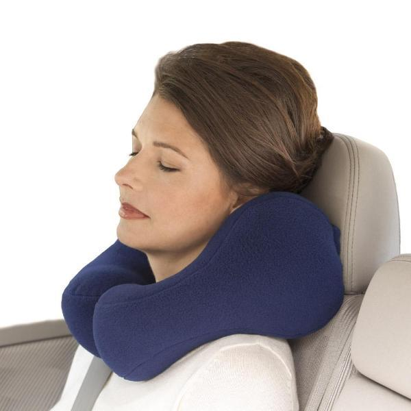 Luxe Neck Travel Pillow With Attached Pouch
