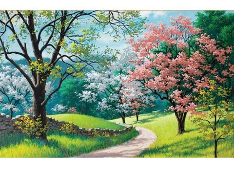 """Cherry Blossoms Trees "" - 1000 Pieces Jigsaw Puzzles"