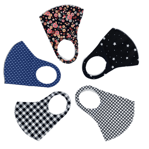 3 Pieces: Reusable Checkered Pattern Face Mask - Assorted Styles