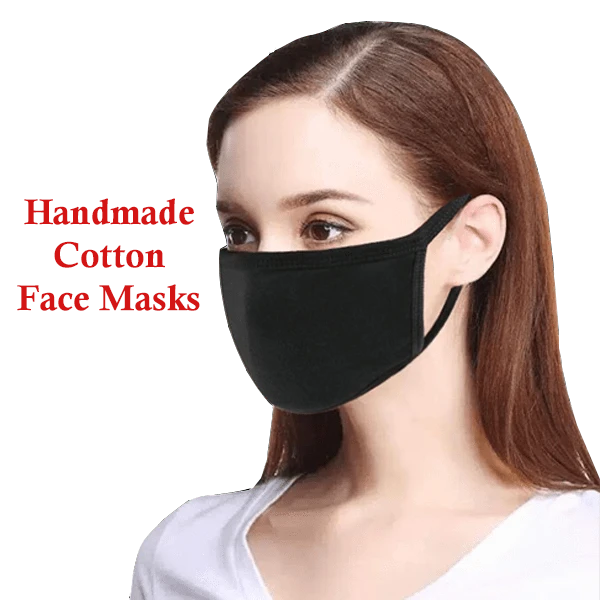 4 Pack: Handmade Cotton Face Masks