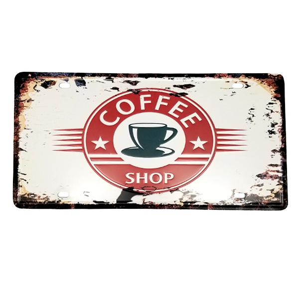 Decor - Coffee Shop Vintage License Plate Wall Decor Sign