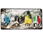 Decor - Manhattan Mopeds Vintage License Plate Wall Decor Sign