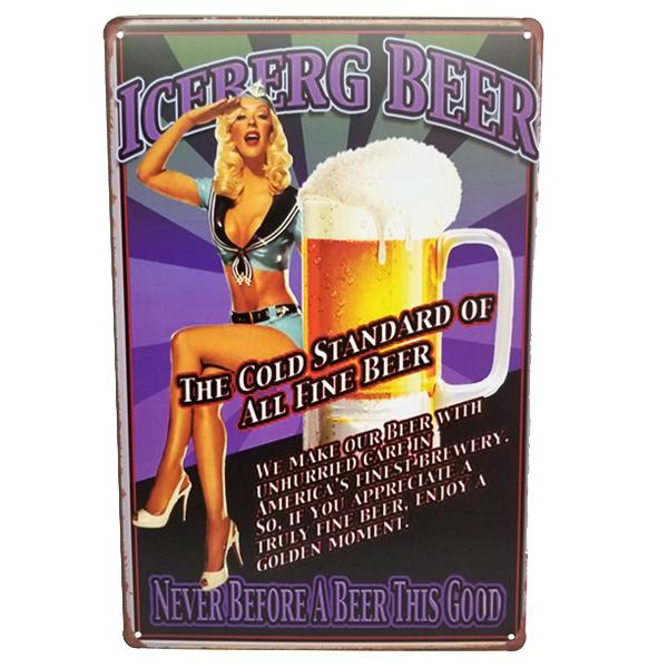 Decor - Retro Iceberg Beer Vintage Collectible Metal Wall Decor Sign
