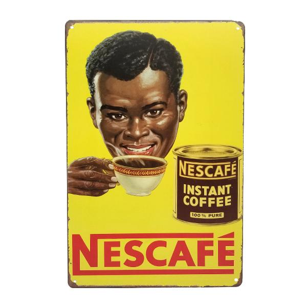 Decor - Retro Nescafe Vintage Collectible Metal Wall Decor Sign