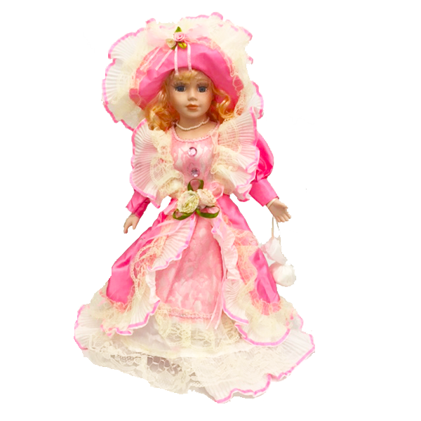"""Blonde In Light Pink Evening Dress"" Bisque Porcelain Doll"
