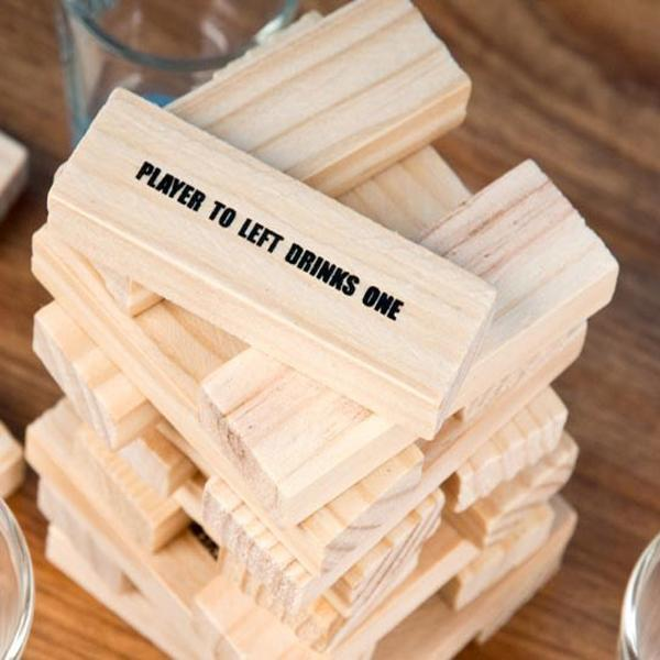 VIP Exclusive Offer - Jenga Drinking Game With 4 Shot Glasses