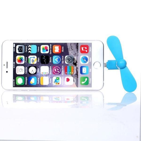 Buy 1 Get 2 Free For Only $9.99! Mini Portable Cell Phone Cooling Fan - Available for iPhone and Android Devices!