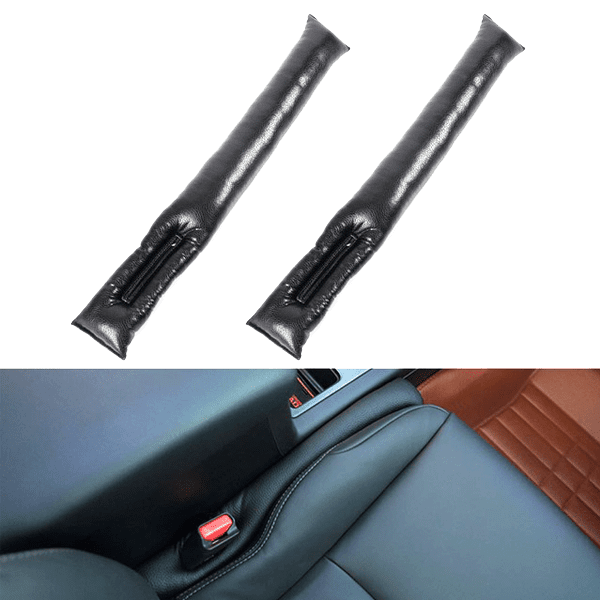 Set Of 2: Universal Fit Faux Leather Car Seat & Center Console Gap Blocker
