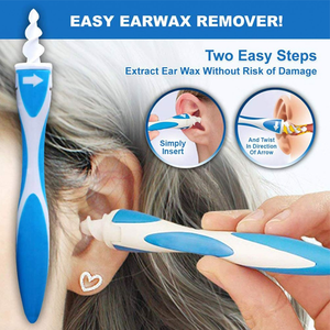 "2 PACK: ""Twist & Grab""  Earwax Extractor With 32 Disposable Soft Tips"
