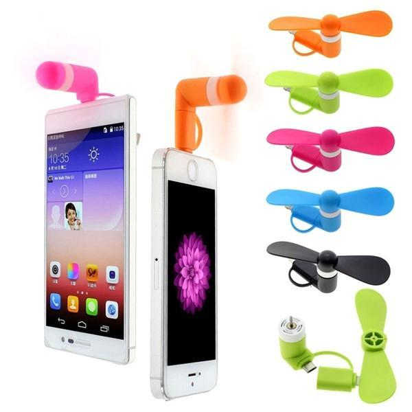 Gadgets - Mini Portable Cell Phone Cooling Fan - Available For IPhone And Android Devices