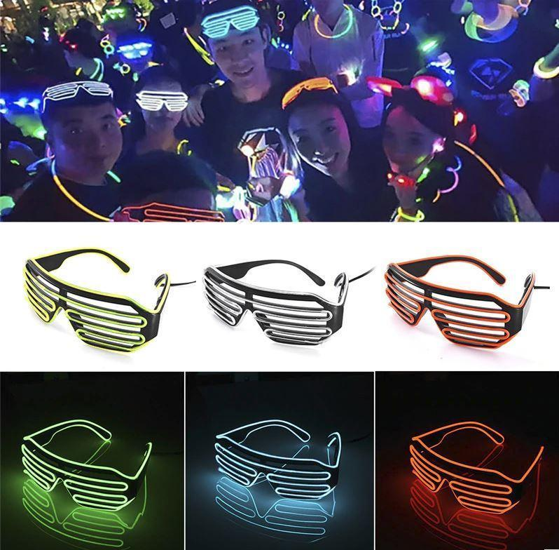 """Vegas Nights Party LED Disco Glasses"" For Festival Parties Christmas New Years Celebration - Assorted Colors"