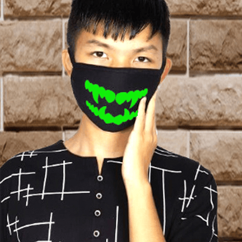3 Pieces: Glow Teeth Cotton Fashion Mask