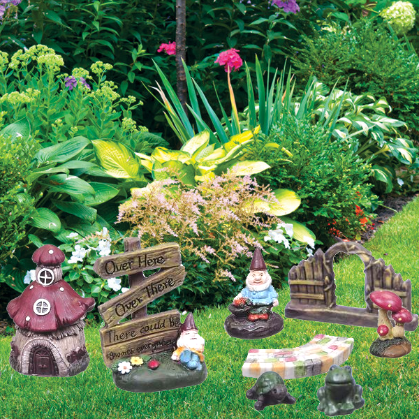 8 Piece Garden Gnome Kit