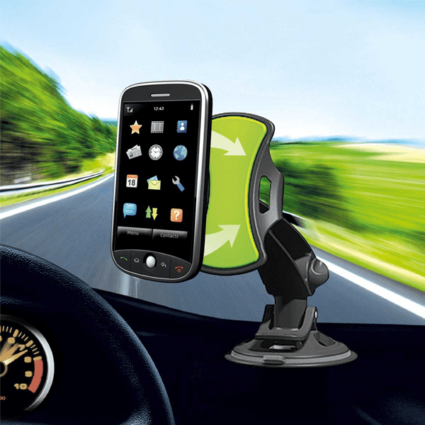 360 Degree Pivoting Universal Car Phone Mount - No Adhesives or Tools Needed!