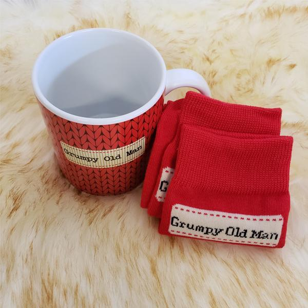 """Grumpy Old Man"" Coffee Mug & Socks Set"