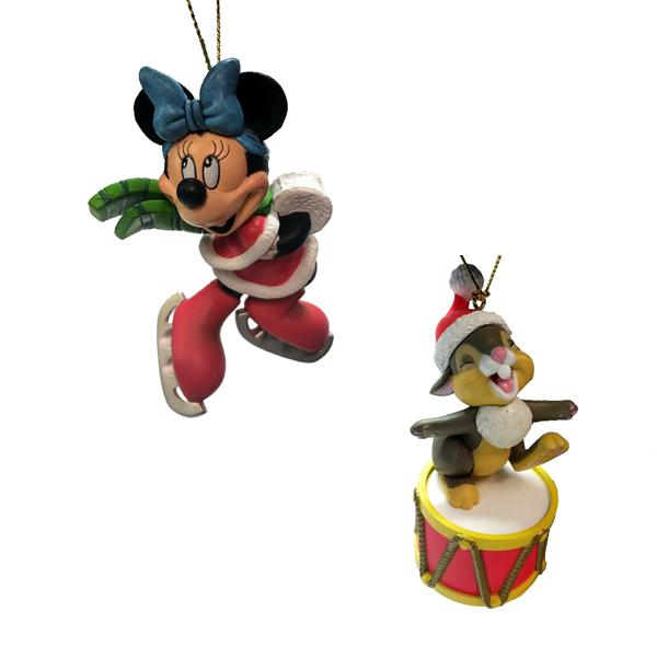 Collectible Christmas Ornaments 2 pack: disney officially licensed collectible holiday ornaments