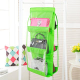 Home - 6-Pocket Large Capacity Hanging Storage And Purse Organizer - Assorted Colors