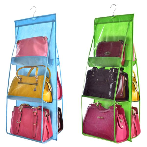 Captivating ... Home   6 Pocket Large Capacity Hanging Storage And Purse Organizer    Assorted Colors ...