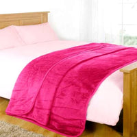 Home - Cozy Ultra-Soft Plush Fleece Throw Blanket - Assorted Colors